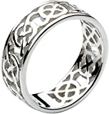 Heritage Sterling Silver Celtic Open Knotwork Edged Band