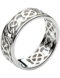 Heritage Sterling Silver Celtic Open Knotwork Edged Ring