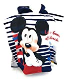 MICKEY Badeponcho–Cape de Bain–Mikrofaser 100% Polyester–110x 55cm Mouse–Disney