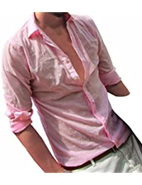 Crazy Sales AIMEE7 Homme Chemises à Manche Longues Haute Qualité  Décontracté Chemises lin Élégant Chemises Business 11050c85b328