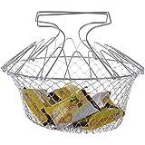 Vyage (TM) 1pcs plegable Enjuague vapor cepa francesa Fry Chef Cesta m¨¢gica cesta de malla cesta de filtro neto de Cocina con la herramienta Drop Shipping