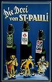 Blechschild Nostalgieschild Astra Bier Hamburg Die drei von St. Pauli Hummel Schild Bierwerbung
