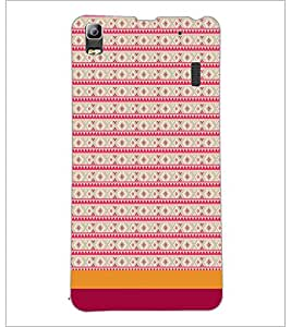 PrintDhaba Tribal pattern D-1856 Back Case Cover for LENOVO A7000 (Multi-Coloured)
