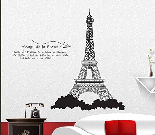Torre Eiffel della Francia romantico Wall Sticker soggiorno o camera da letto D š Š Cor