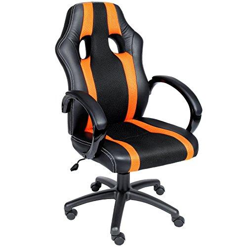 Bürostuhl Rot Komfort-Stoffbezug Chefsessel Schreibtischstuhl Drehstuhl Gamingstuhl Bürodrehstuhl Race Design PU Farbauswahl