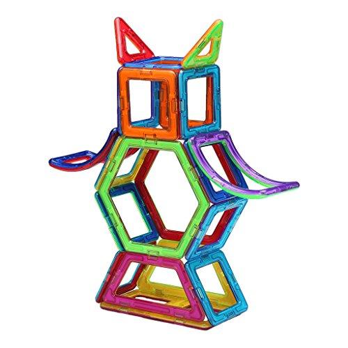 Shinehalo 89PCS Magnetische Bausteine für Kinder Kreativität Kleinkind Lernspielzeug DIY Block Modell Spielzeug für - Kinder-blöcke
