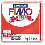 FIMO Lot de 6 kids Pâte à modeler, durcissante au four, rouge, 42 g