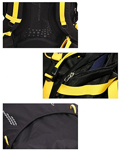 zaino trekking Outdoor Zaino Sport alpinismo Uomini E Donne Bag Borsa a tracolla viaggio Walking multiuso Travel Bag Wear sacchetto esterno 38L Zaini da escursionismo ( Colore : Blue 38L ) Black 38L