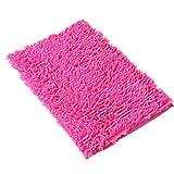 f-eshion waschbar Badezimmer Neue Shaggy Teppiche rutschfeste Badematte Dick Shag Pile 6Farben, hot pink, 60*40cm