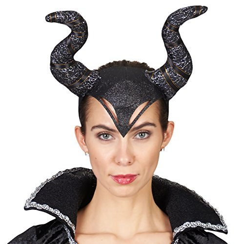 Haarreif Böse Königin - perfekt zum Teufelin, Dunkle Fee oder Böse Königin Kostüm an Halloween, Fasching, Motto Party oder Karneval (Dunkle Königin Kostüm)