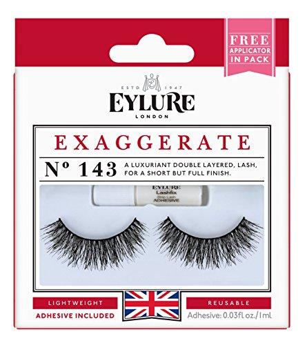 Eylure Exaggerate Lash No. 143, 1er Pack (1 x 2 Stück) (Strip Wimpern)