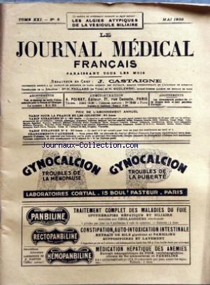 JOURNAL MEDICAL FRANCAIS (LE) [No 5] du 01/05/1932