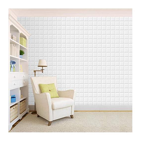 100Yellow? White Tile Pattern Self Adhesive Peel & Stick Waterproof Wallpaper-44 Sqft