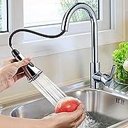 Wasserhahn Küche mit 360°Schwenkbar,Himimi Ausziehbar Küchenarmatur mit Brause Zwei Wasserstrahlarten,Mischbat