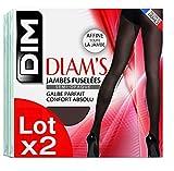 Dim Diam's Jambes Fuselées, Collants, Lot de 2, Femme, 25 DEN, Noir, FR: 3 (Taille Fabricant: 3)