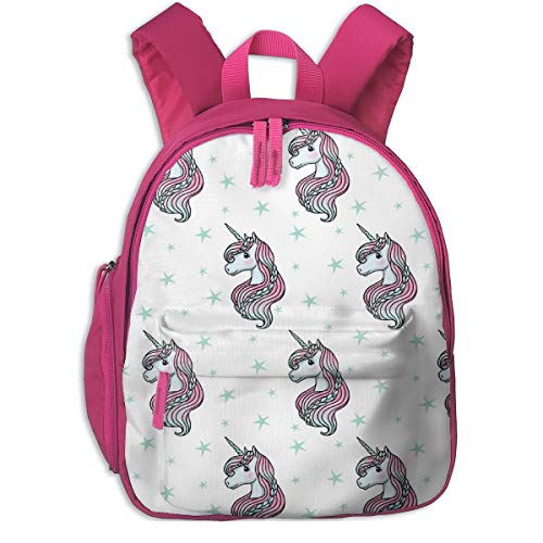 Kinderrucksack mädchen,Unicorn - White U0026 Teal - Tiny_6163 - m & e_Fashions, Für Kinderschulen Oxfordstoff (pink) (Nike Rucksack Teal)
