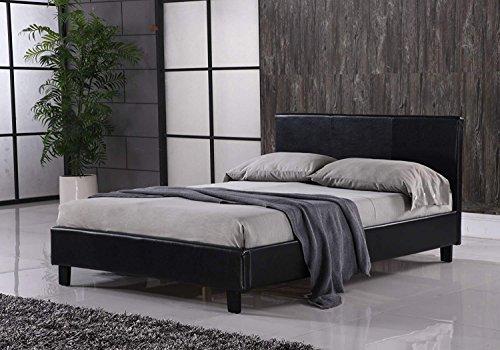 MODERNIQUE 4ft6 Prado Bed Frame in Black Frame Only
