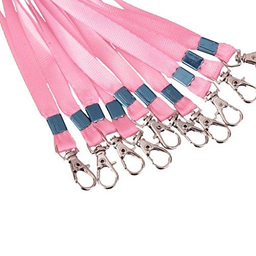 yuhemii Halskette Hals Riemen Kordel für Ausweise Key Metall Verschlüsse 1 Pcs Pink (Flash-laufwerk Keychain Strap)
