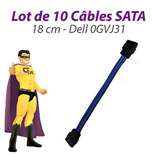 Dell 10 Stück Kabel SATA 0GVJ31 Optiplex 960 210l GX520 GX620 3020 18cm Blau - Gx520 Computer