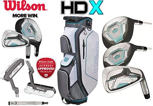 Damen Wilson ProStaff HDX Golf Komplettset Eisen 6-SW, Driver, Hybrid, Holz, Putter