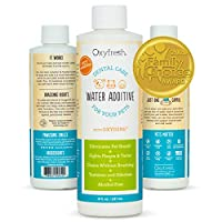 ‏‪Oxyfresh Premium Pet Dental Care Solution Pet Water Additive: Best Way to Eliminate Bad Dog Breath and cat Breath - Fights Tartar and Plaque - So Easy, just add to Water! Vet Recommended! 8 oz.‬‏