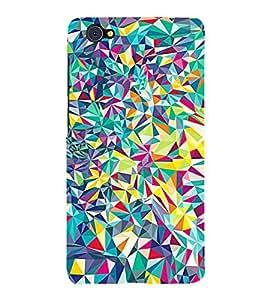 FUSON Abstract Background Matt Glass 3D Hard Polycarbonate Designer Back Case Cover for Vivo X5Pro :: VivoX5Pro