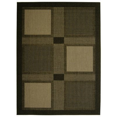 Rug in Beige, Black & Sage with Squares (2 ft. x 3 ft. 7 in.) by Safavieh