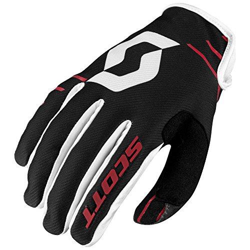 Scott 350 Dirt MX Motocross / DH Fahrrad Handschuhe schwarz/weiß/rot 2017: Größe: XL (11) (Schwarz Handschuh Ansatz)