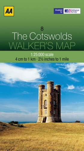 The Cotswolds (AA Walker's Map)