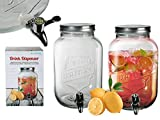 S.Ariba 787851 | 1st Getränkespender 3,5 Liter Einmachglas mit Hahn Saftspender Getränke Dispenser Spender im 1er Set