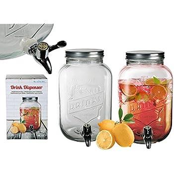 S.Ariba 787851 | 2er Set Getränkespender 3,5 Liter Einmachglas mit ...