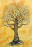 AVA handgemachter indischer Mandala-Wandbehang, traditionelles dekoratives Poster Hippie-Tapisserie, Bohemain Boho Tapisserie, Dorm Tapisserie Postergröße, Mehrfarbig, 101,6 x 76,2 cm 5