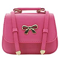 Scheppend Fashion Little Girls Handbag Children Single-shoulder Bag Dual-purpose Bag (Rosy rivet)