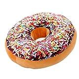 TOMMY LAMBERT Coussin 3D Donut Oreiller Créatif pour Lit Canapé Fauteuil Jouet 40cm, Mignon Coussin Décoratif en Peluche, Forme de Donut pour Canapé, Voiture et Voyage