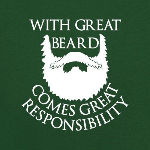 With Great Beard Comes Great Responsibility - Herren T-Shirt - 13 Farben Flaschengrün