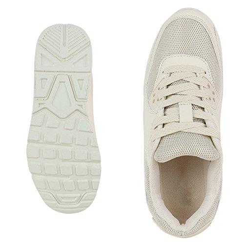 Knallige Damen Herren Unisex Sportschuhe | Auffällige Neon-Sneakers | Sportlicher Eyecatcher für Ihren Alltags-Look | Angenehmer Tragekomfort | Gr. 36-45 Stone