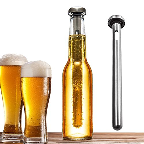 Beer Chiller Stick with Pourer Beer Cooler Beverage Cooling Rod Stainless Steel (Tasche Beer)