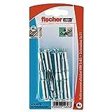 Fischer Hohlraum-Metalldübel HM 5 x 65 SK SB-Karte, 4 x Schraube M 5 x 73, 014806