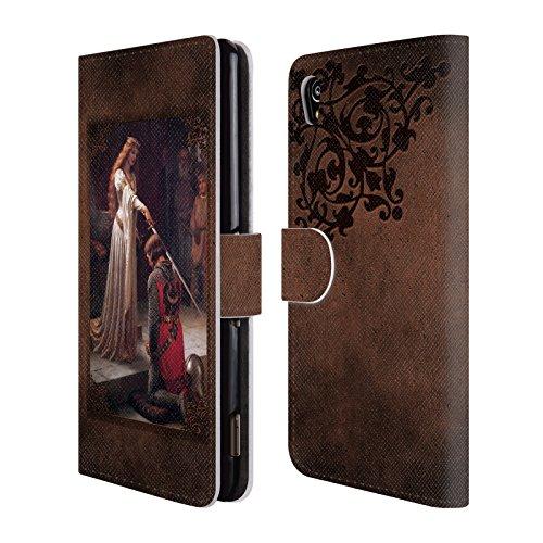 Offizielle Brigid Ashwood Auszeichnung Präraffaeliten Brieftasche Handyhülle aus Leder für Sony Xperia M4 Aqua
