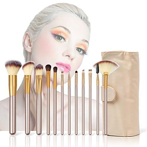 SUPRBRID Pinceaux Maquillage Cosmétique Professionnel 12pcs Set/Kit Cosmétique Brush Beauté Maquillage Brosse Makeup Brushes Cosmétique Fondation avec Sac