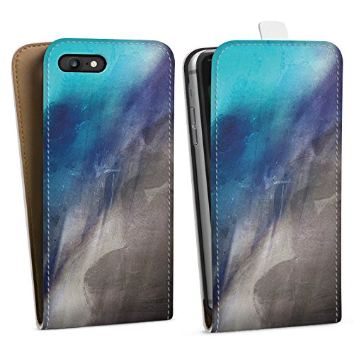 Apple iPhone X Silikon Hülle Case Schutzhülle Wasserfarbe Kunst Pinsel Downflip Tasche weiß