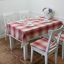 Tela de país de América/ mantel de tela escocesa de algodón/tabla oblonga/mantel/ encaje de mantel-A 140x240cm(55x94inch)