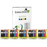 25 XL (5 Sets) Colour Direct Compatible Cartouches d'encre compatibles Remplacement...