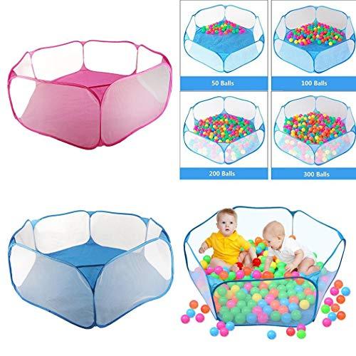 Yukio KinderToys- Baby Bällebad faltbar Bällebad, Ball Pool mit Pop Up-Funktion für 1-3 Jährige Kleinkind Indoor Outdoor (Blau) (Für Indoor-bällebad Kleinkinder)