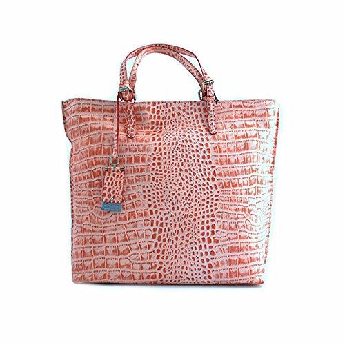 Cromia Borsa Shopping tote Donna Pelle Rosa Fucsia Fantasia Anguria 1402349ANGURIA