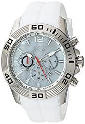 Invicta Mens Pro Diver Quartz Stainless Steel and Silicone Casual Watch, Color:White (Model: 20297)