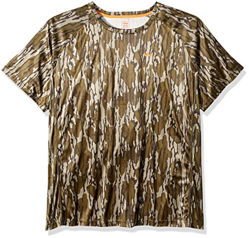 Walls Herren Camo Short Sleeve Performance Tee Hemd, Mossy Oak Bottomland, X-Groß -
