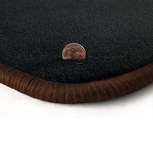 Preisvergleich Produktbild Passgenau Fußmatten aus Velours Anthrazit (Q319) und Rand in Braun (305) für Kia Ceed Cee`d / Ceed + Pro ED Facelift Bj. 2009-2013