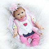 Reborn Baby DOLLS bebé crecimiento asociados diadema rosa pequeño cártamo Acompañar bebé baberos 22pulgadas 55cm