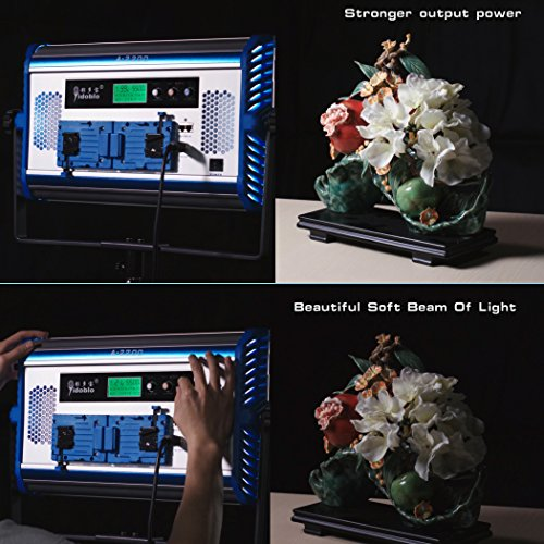 Yidoblo Bi-Color LED Soft Video Light Panel 3200K-5500K Adjustable by DMX Phone App Remote Controller with Barn Doors  75W Continuous Photography Lighting for Photo Studio Video Film